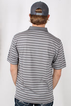 Grey Stripes Polo- Southern Collegiate Back 9 Polo Back