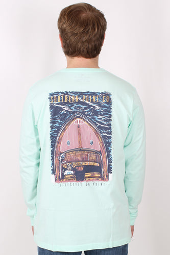 Mint L/S- Southern Point Boat Long Sleeve Back