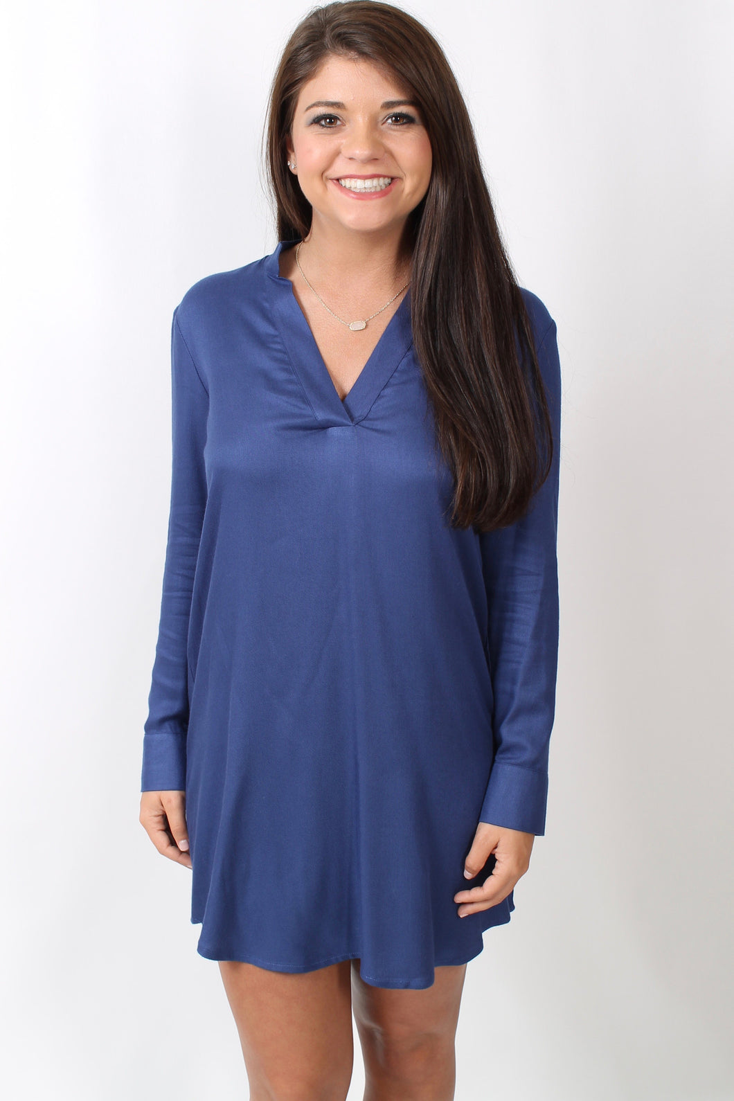 Indigo Dress- BB Dakota Hartman Dress Front