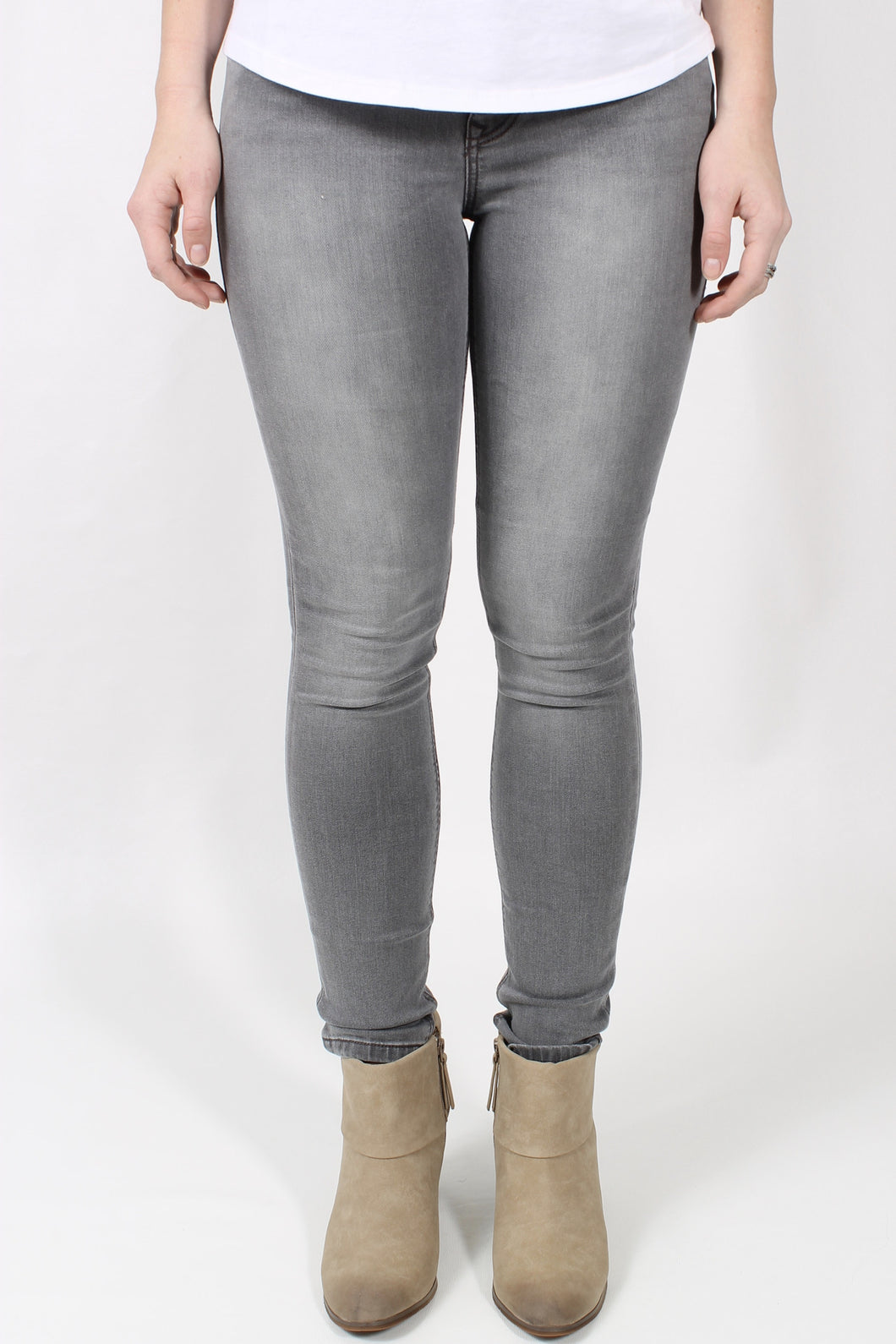 Grey Skies Jeans- Level 99 Liza Skinny Front