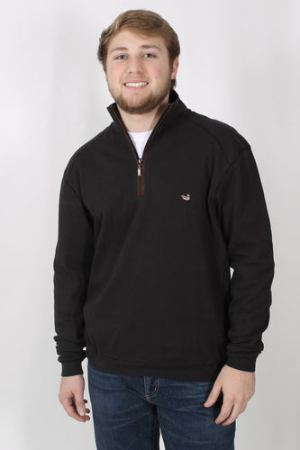 Black Pullover- Southern Marsh DownpourDry Cotton Pullover Front