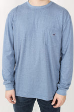 Denim Blue L/S- Properly Tied Embroidered Pocket Tee Detail