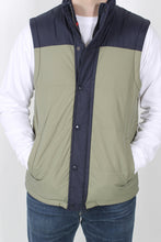 Green/Navy Vest- Southern Proper Campground Vest Detail