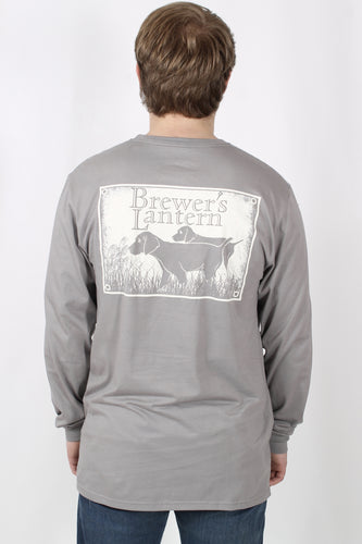 Grey L/S- Brewer's Lantern Dog Long Sleeve Back