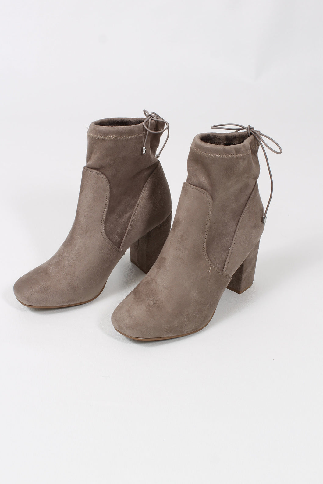 Suedette Grey Booties- Chinese Laundry Kyla