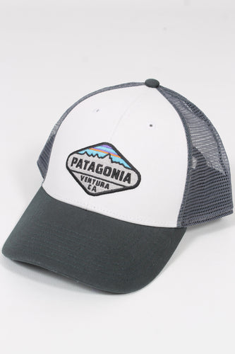 White w/ Carbon- Patagonia Fitz Roy Crest LoPro Trucker Hat