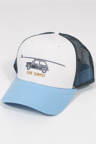 White- Patagonia Live Simply Glider Trucker Hat
