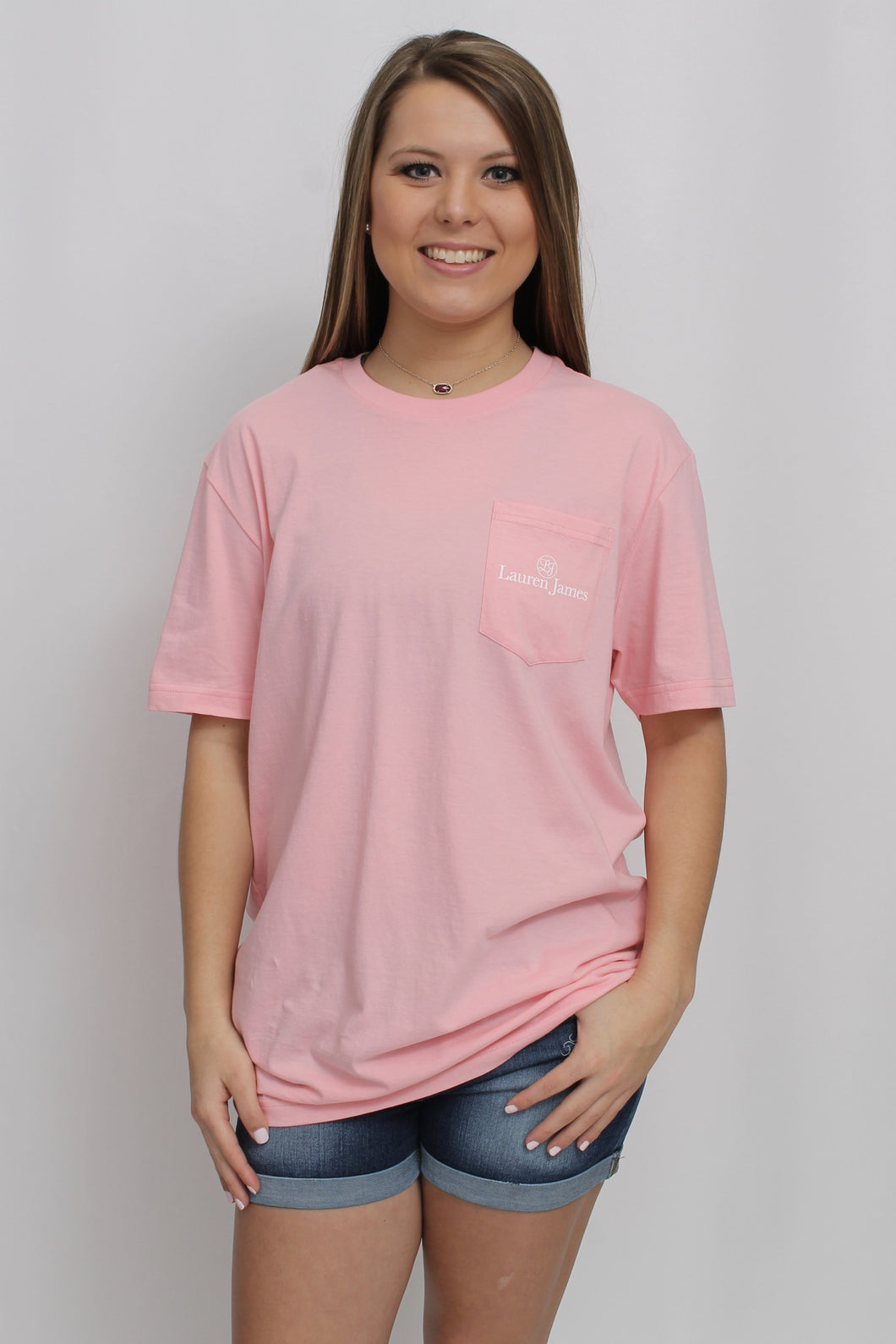 Cotton Candy Pink S/S- Lauren James Road Ends Short Sleeve Front