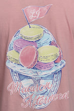 Cotton Candy Pink S/S- Lauren James Macaroon Afternoon Short Sleeve Detail