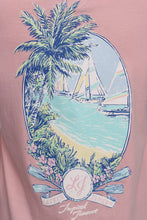 Cotton Candy Pink S/S- Lauren James Tropical Timeout Short Sleeve Detail