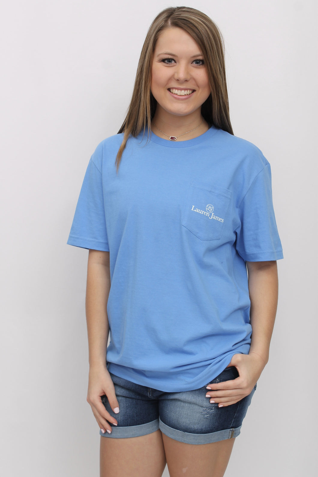 Delta Blue S/S- Lauren James Magnolia Mindset Short Sleeve Front
