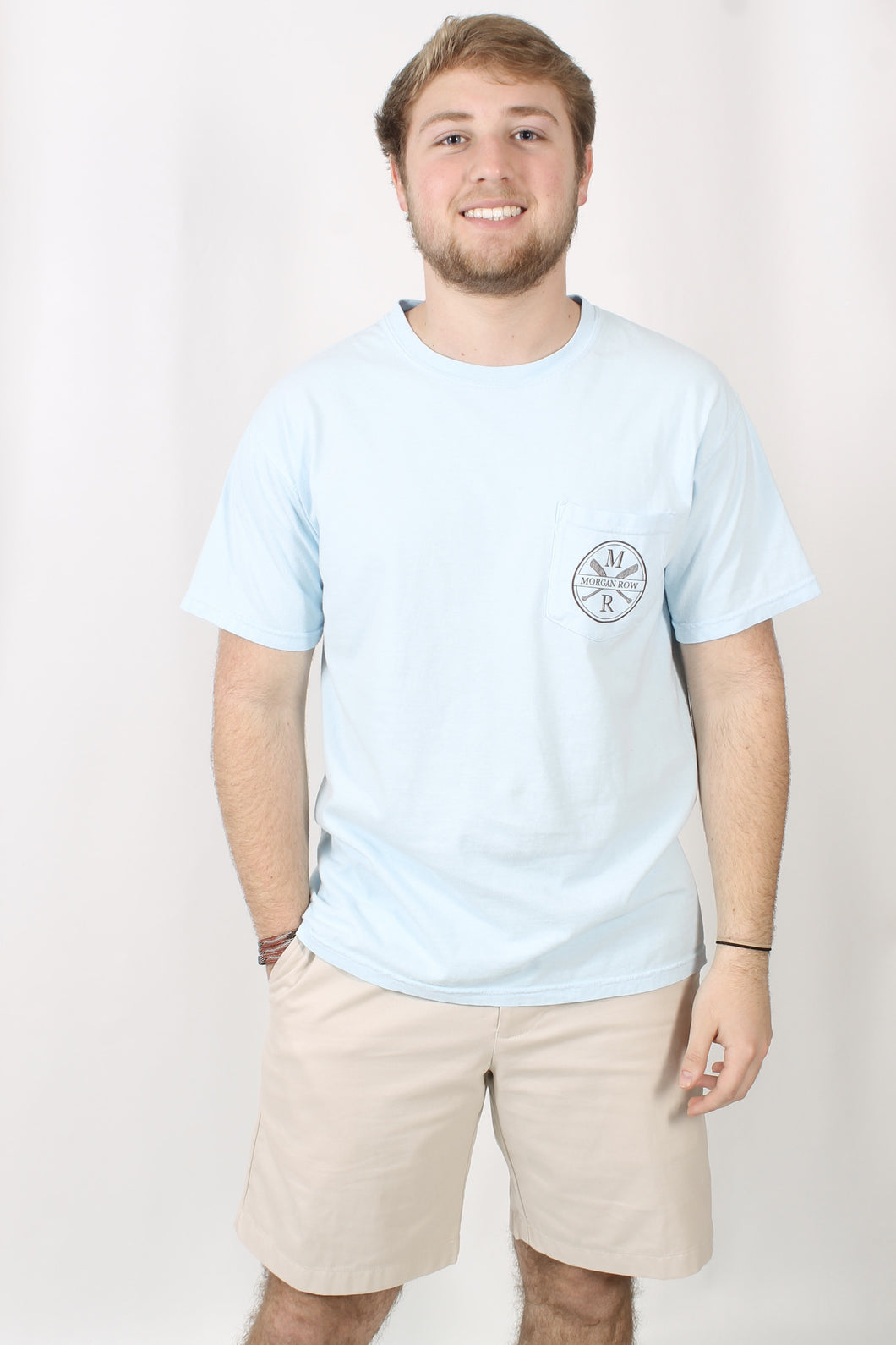 Chambray S/S- Morgan Row Don't Stop Retrievin' Tee Front