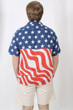Rowdy Gentleman Stars N Stripes Hawaiian Shirt Back