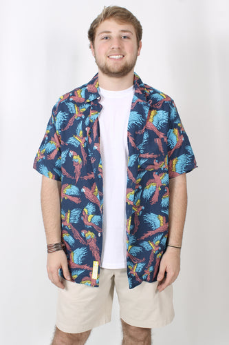 Rowdy Gentleman Polly Want a Mai Tai Hawaiian Shirt Front