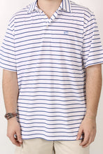 White Polo- Southern Tide Driver Stripe Performance Polo Detail
