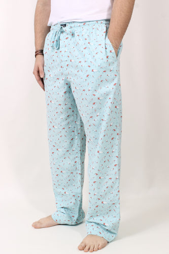 Antigua Blue with Lures Pants- Southern Marsh Savannah Pastimes Lounge Pant Front
