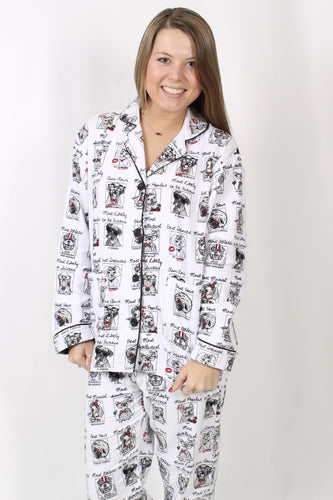 Dog PJs- P.J. Salvage Yearbook Dog Pajama Set Front