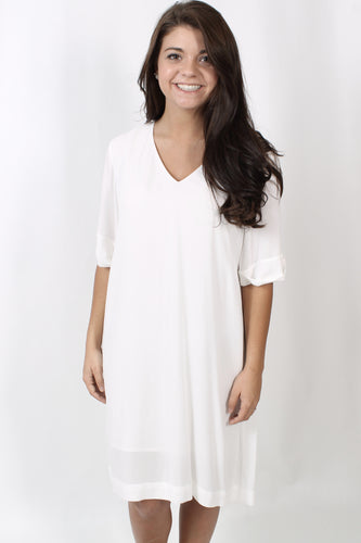 White Dress- Gentle Fawn Darcy Dress Front