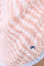 Orange Shorts- Southern Tide Seersucker Lounge Shorts Detail