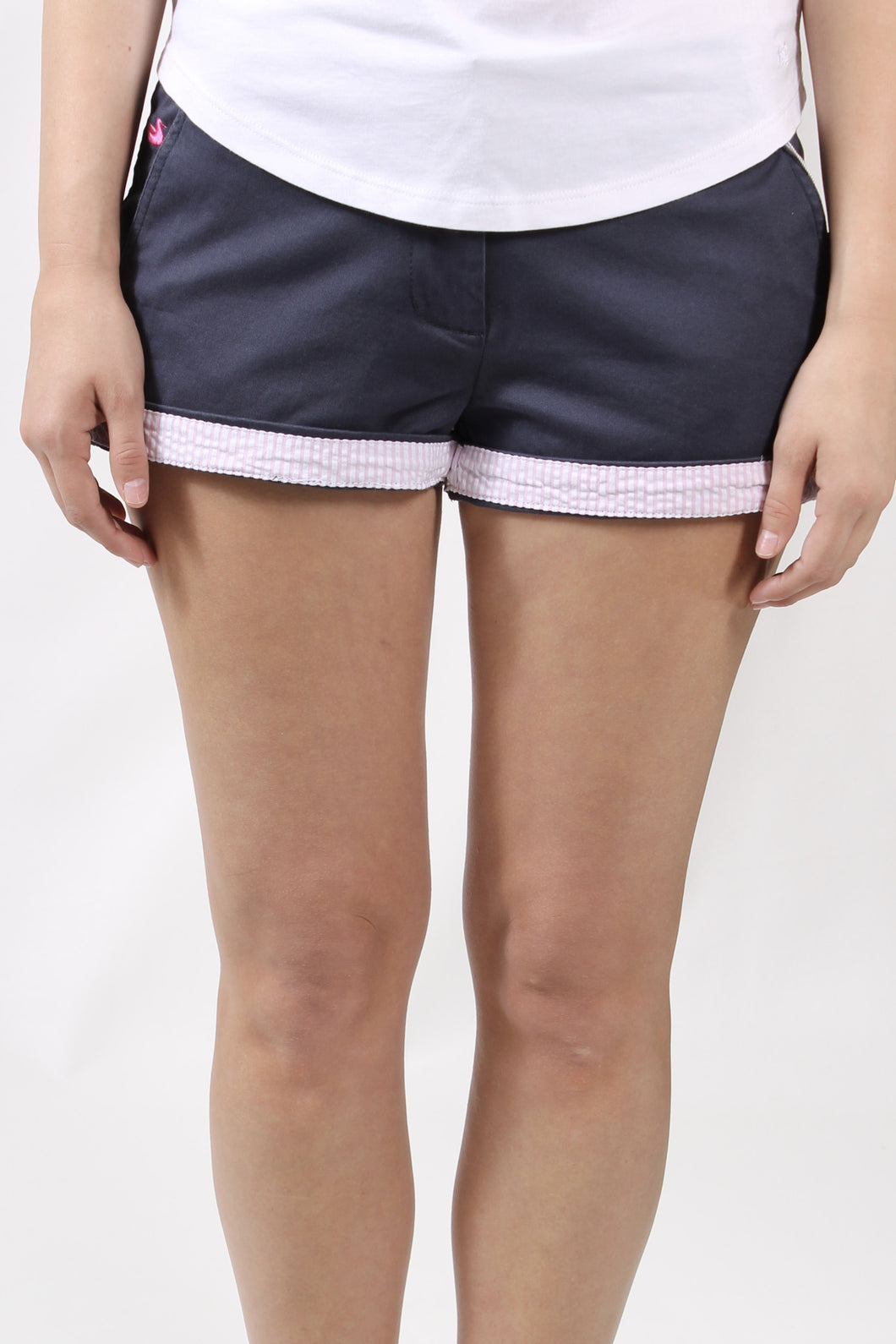 Colonial Navy Shorts- Southern Marsh Chino Brighton Short Front