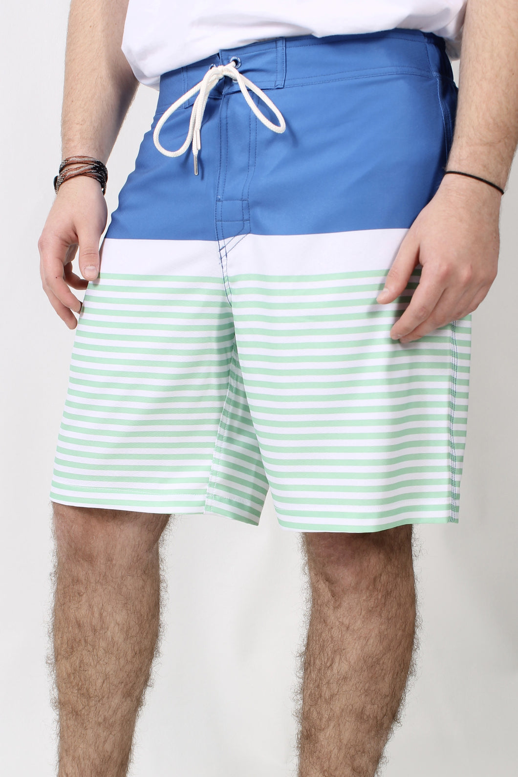 Cobalt Blue Trunks- Southern Tide Horizon Stripe Water Short Front