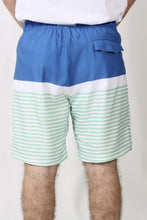 Cobalt Blue Trunks- Southern Tide Horizon Stripe Water Short Detail