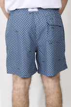 Yacht Blue Trunks- Southern Tide Swim Shady Swim Trunk Back