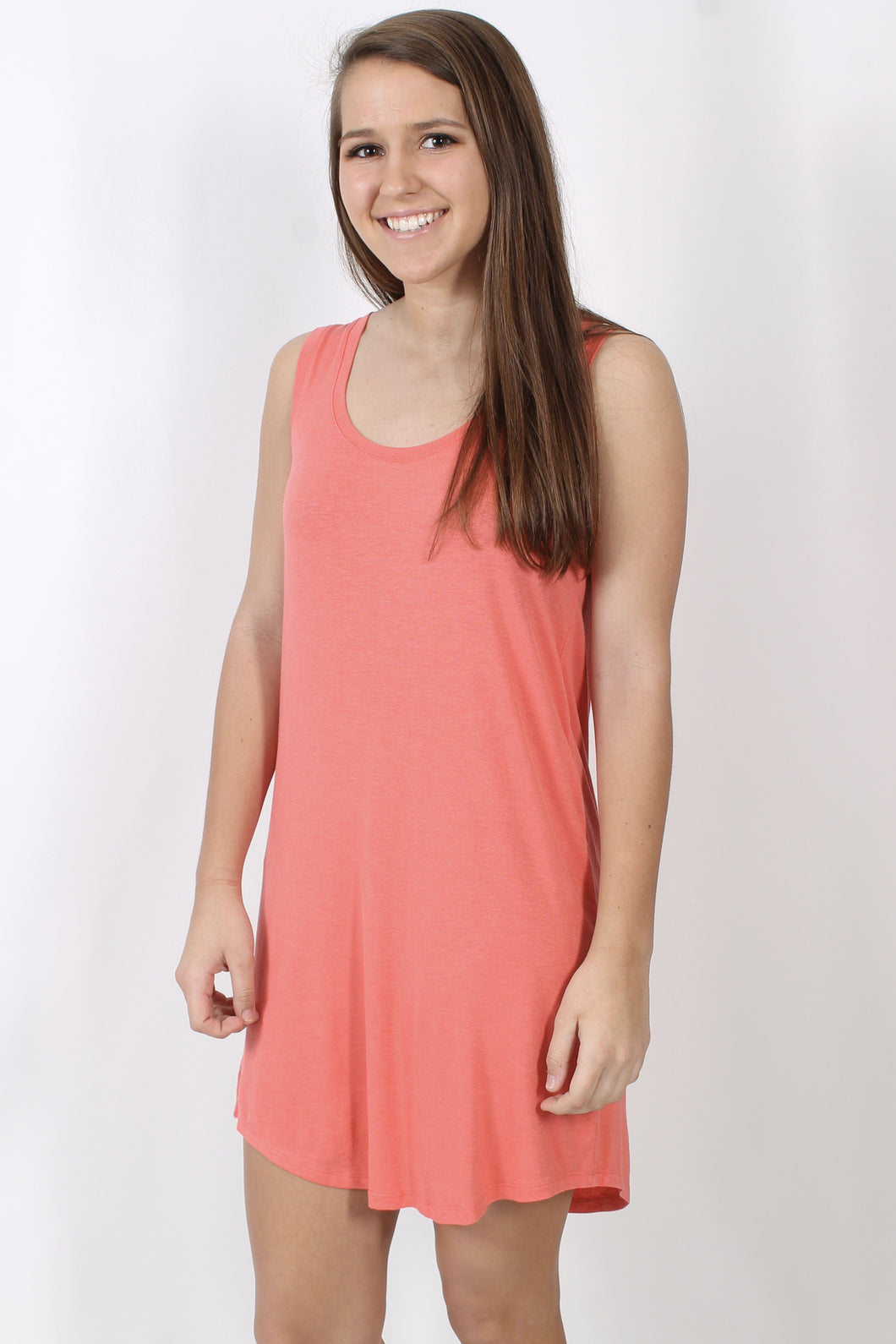 Spiced Coral Dress- Z Supply The Coastline Dress Front