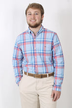 Cloud Dress Shirt- Vineyard Vines Martin Point Plaid Slim Tucker Shirt Front