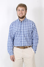Blue Dress Shirt- Southern Point Button Down Front