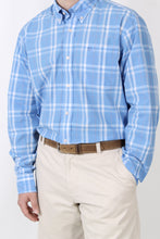 Blue Plaid Dress Shirt- Southern Tide Button Down Shirt Detail