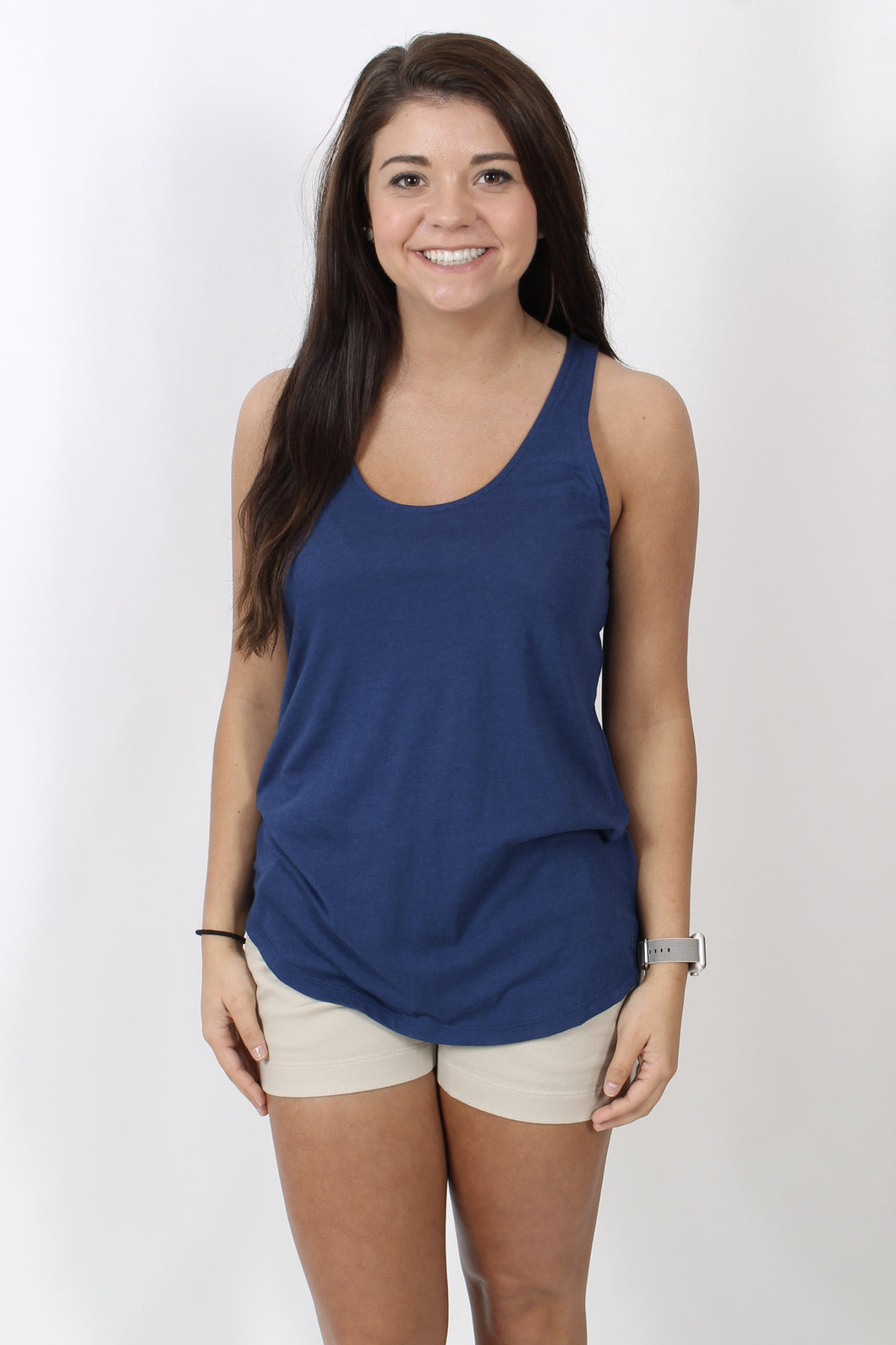 Yacht Blue Tank- Southern Tide Anna Tank Front