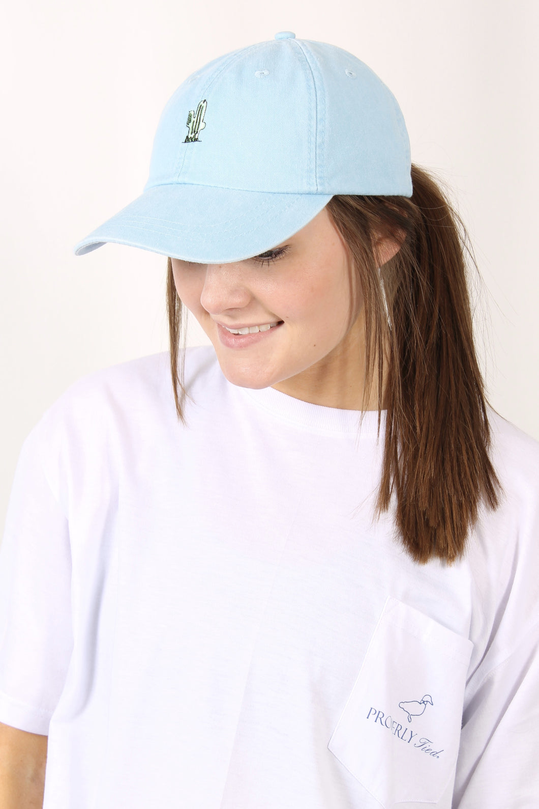 Light Blue Hat- Charlie Southern Cactus Hat Front