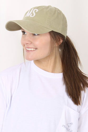 Olive Hat- Charlie Southern Retro State MS Hat Front