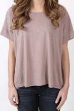 Mauve Top- She + Sky Cutout Ladder Back Top Detail