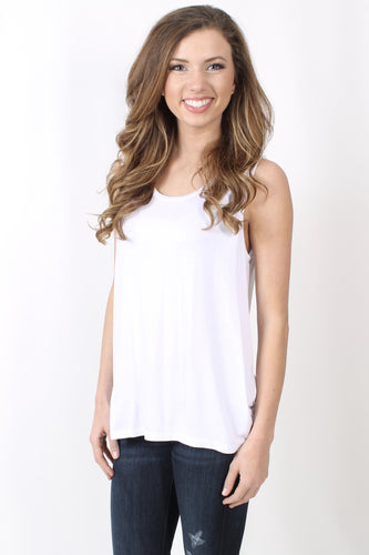 White Top- Chaser Jersey Cap Sleeve Tee Front