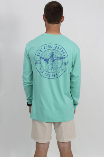 Mint L/S- Duck Dog Duck Long Sleeve T-Shirt Back