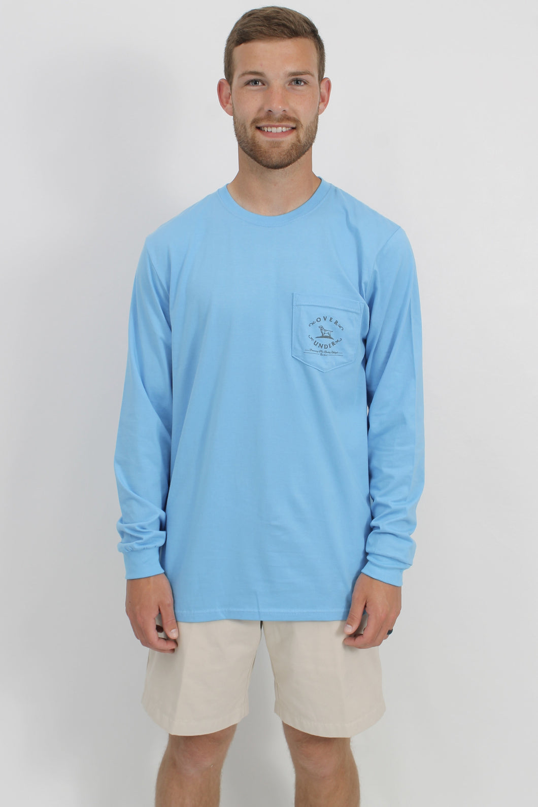 Baby Blue L/S- Over Under Dog Long Sleeve Front