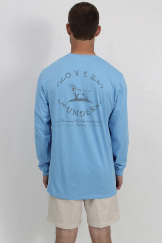 Baby Blue L/S- Over Under Dog Long Sleeve Back