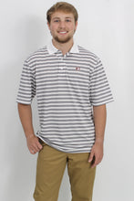 Grey/White Polo- Southern Collegiate Back 9 Polo Front