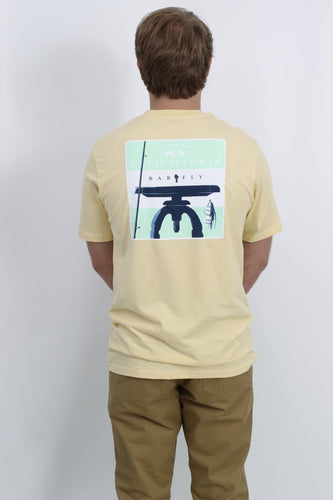 Yellow S/S- Fish Hippie Bar Fly Short Sleeve T-Shirt Back