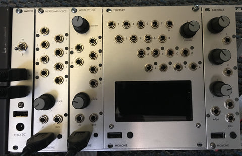 Monome Eurorack Bundle Grid teletype earthsea white whale switch meadowphysics