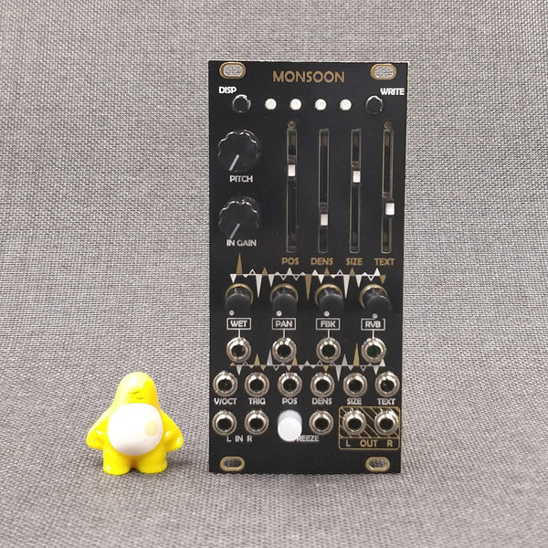 Monsoon – Expanded Mutable Instruments microClouds/uBurst Eurorack Module – Black/Gold Panel