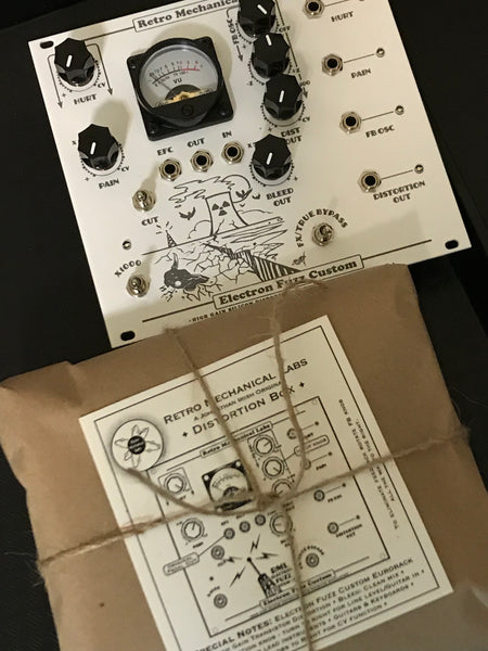 Retromechanical Labs: Electron Fuzz Custom CV Eurorack Module Modular 8 panel!