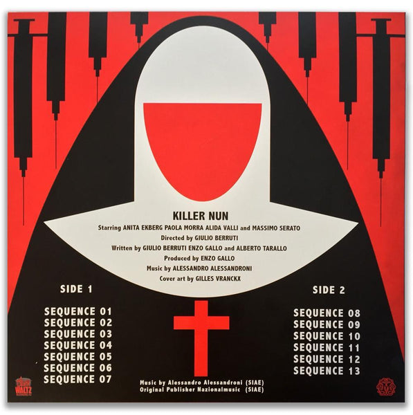 Alessandro Alessandroni - Killer Nun Original Motion Picture Soundtrack LP