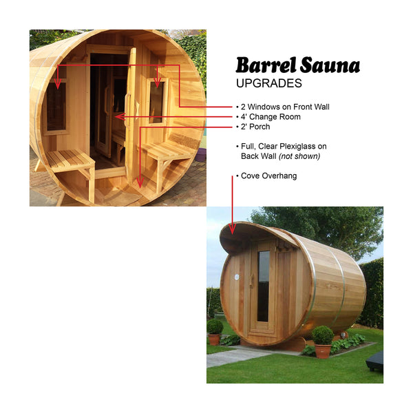 7' Diameter Barrel Sauna