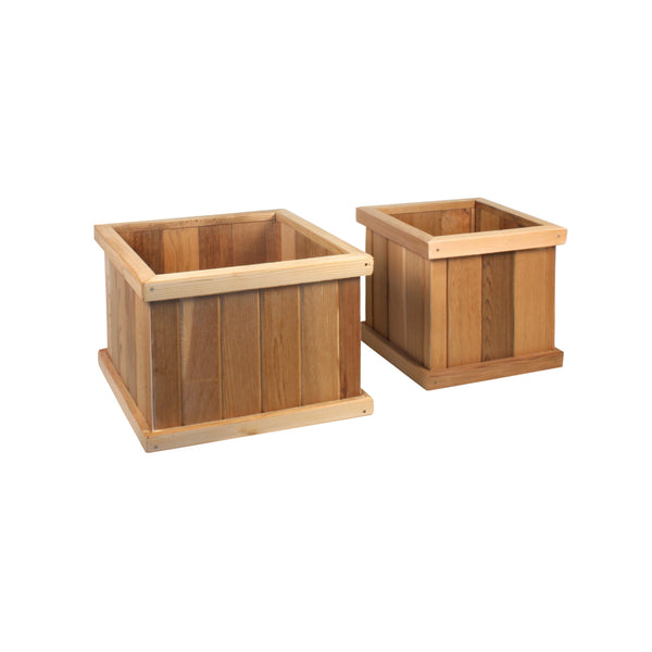 "Square Planter Box Set — 14"", 18"""