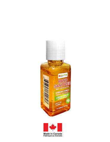 ELITEMED HAND SANITIZER- 100 ml Gentle Hydrating formula Non-irritating - MADE IN CANADA