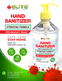 ELITEMED HAND SANITIZER 500 ml  Gentle Hydrating formula Non-irritating - MADE IN CANADA