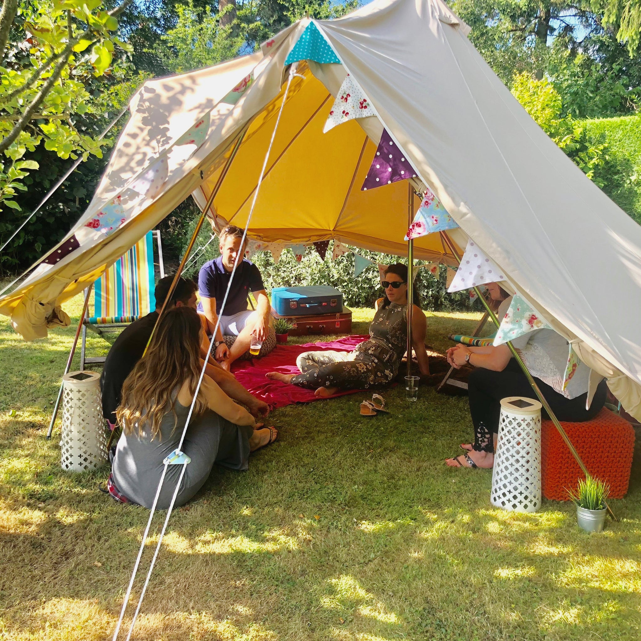 Camping's Coming Home: Bell Tents in the Garden